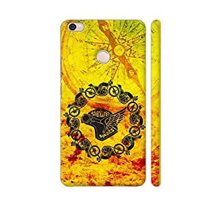 Colorpur Adventures Awaits On Yellow Printed Back Case Cover for Xiaomi Mi Max