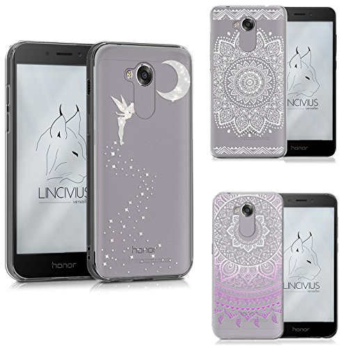 Lincivius Honor 6A Hülle, Huawei Honor 6A Hülle Pack 3 Cases Gel Design Original Pack 3 Cases Zubehör TPU Silikon Dünn Cover