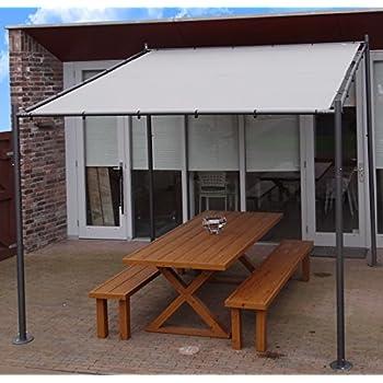 pavillon pergola aluminiumgestell polyester dach stufenlos raffbar. Black Bedroom Furniture Sets. Home Design Ideas