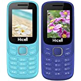 Hicell C9 Metro (Combo Of Two MOBILES) Dual Sim Mobile Phone With Digital Camera And 1.8 Inch Screen (LightBlue+DarkBlue)