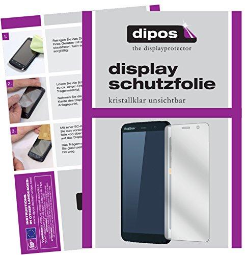 dipos I 2X Schutzfolie klar passend für RugGear RG850 Folie Bildschirmschutzfolie