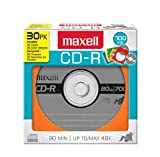 Maxell 648451 700MB 48x Colored Discs w/Sleeves 30PK (Asstd Colors:Orange, Blue, Green)