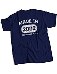 bybulldog Made In 2002 Aged To Perfection 16th Birthday Present Mens Premium T-Shirt Choice Of 12 Colours In Sizes Small To 3X Large