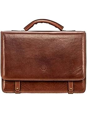 Maxwell-Scott® Luxus Herren Umhängetasche aus Leder (Battista)