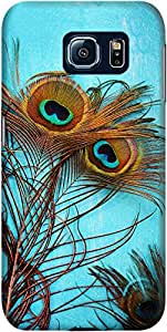 DailyObjects 3 Peacock Feathers Mobile Case for Samsung Galaxy S6