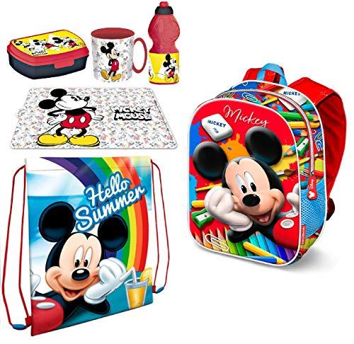 Mickey Mouse Topolino in 3D Zainetto Zaino,Sacca Sport ,Porta Merenda Scuola Asilo Tempo Libero