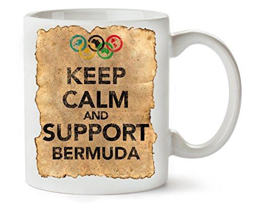 Vintage Keep Calm Support Bermuda Klassische Teetasse Kaffeetasse (Klassische Bermuda)
