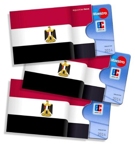 cardbox Ägypten - 3 Stück!!! - Schutzhüllen für ec-Karten, Kreditkarten, Versichertenkarten, Kundenkarten, Visitenkarten