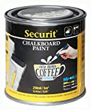 Securit Barattolo di Pittura lavagna acrilica a base d'acqua - colore Nero- 250 ml