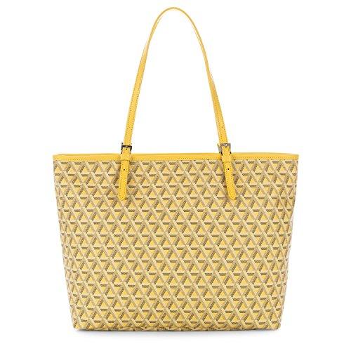 lancaster-paris-womens-41804jaune-yellow-canvas-tote