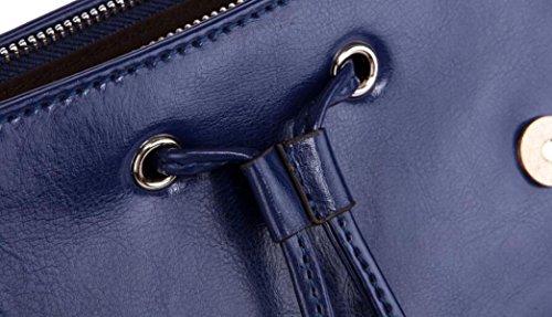 La Signora Tracolla In Pelle Pacchetto Versatile Indietro Cerniera Portafoglio Blue