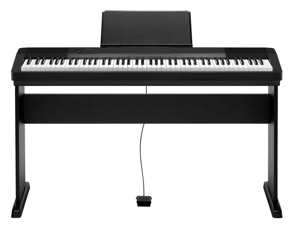 Casio CDP-130 Piano numérique avec support (88touches, 48notes, 5chansons) Couleur noire