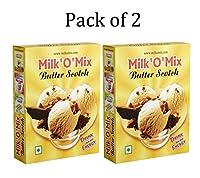 Milkomix Butter Scotch Milkshake & Ice Cream Flavored Milk Powder - Pack of 2