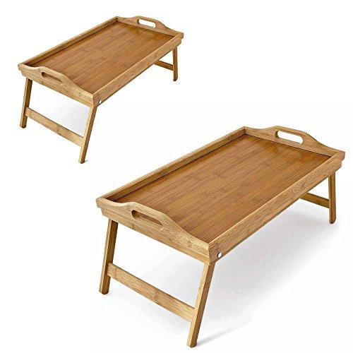 Gebraucht, SIDCO ® 2 Betttablett Bambustablett Tablett Bambus gebraucht kaufen  Wird an jeden Ort in Deutschland