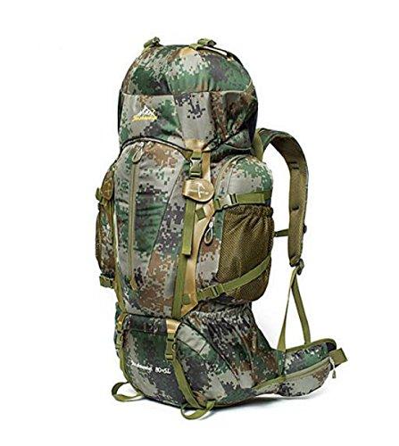 Outdoor Impermeabile Camuffamento Zaino Viaggi Escursionismo Borsa Grande Capacità,Jungle-camouflage jungle-camouflage