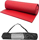 #7: Gold Leaf 24 X 68 Inch Exercise, Gym & Yoga Mat 6 mm Red With Carry Bag