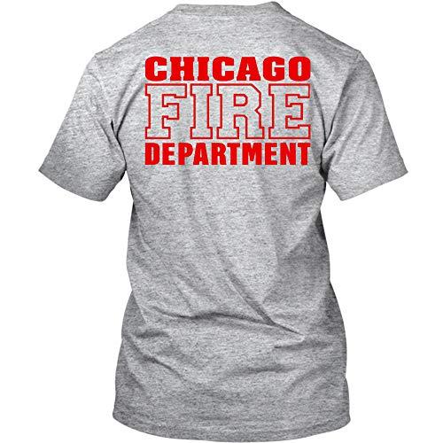 T-Shirt in grau mit Logo und Schriftzug in rot (L, Grau) ()