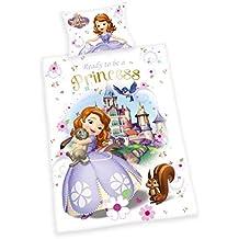 HERDINGS YOUNG COLLECTION Sábanas de franela para niños, 2 piezas Princesita Sofía - colorido, 100 x 135 cm