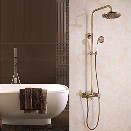 Antik Kupfer Dusche Set, Handbrause Sprayer & Badezimmer Dusche Wasserhahn Set mit Regen Dusche (Badewanne Dusche Wasserhahn Sprayer)