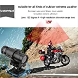 Full HD 1080P DV Mini Impermeabile Sport Camera Casco da Bici Azione DVR Video Cam 120 Gradi grandangolo F9 Nero - Nero