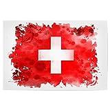 artboxONE Poster 45x30 cm Reise Flagge Schweiz Hochwertiger Design Kunstdruck - Bild Reise von Tatiana Davidova