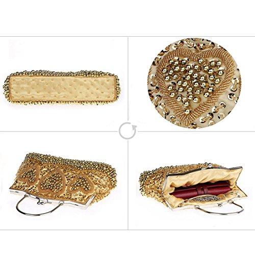 YYW Sequin Clutch Bag, Poschette giorno donna Gray