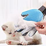 Rabbitgoo 2-IN-1 Pet Bürste Handschuh Haustier Fellpflege deshedding Bürsten Pflegenbürste Tierhaar zur Haarentfernung und Massage für Hund Katze