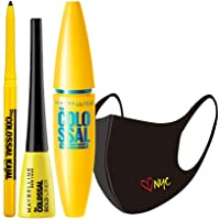 Maybelline New York Girl's Gotta Go Out Eye Makeup Kit - Colossal Waterproof Mascara, Colossal Kajal, Colossal Bold…