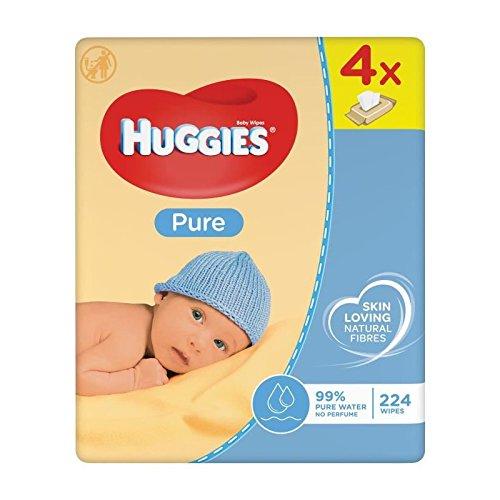 Huggies Pure Toallitas Bebé - Paquetes 4 x 56 toallitas