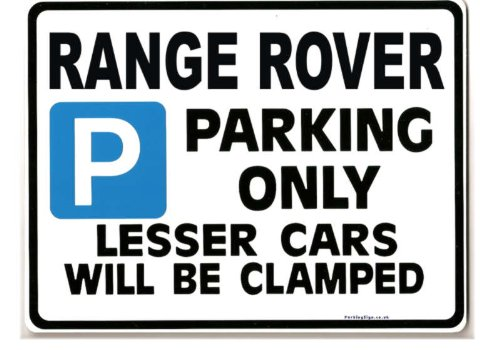 Price comparison product image Range Rover Parking Sign-Gift for v8 4.6 hse tdi 300 models- Size Large 205 x 270mm