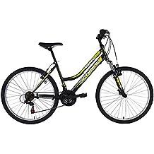 F.Lli Schiano Bicicleta Mtb Integral Mujer 18 V Shimano Horquilla Rígida, Negro/Verde
