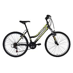 F.lli Schiano Integral Shimano 18V Fork Suspension Bicicletta Donna, Nero/Verde