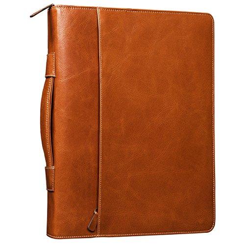 STILORD-Justus-Aktenmappe-Leder-mit-Griff-MacBooktasche-133-Zoll-Schreibmappe-Konferenzmappe-Aktentasche-Dokumentenmappe-mit-Henkel-echtes-Leder-cognac-braun