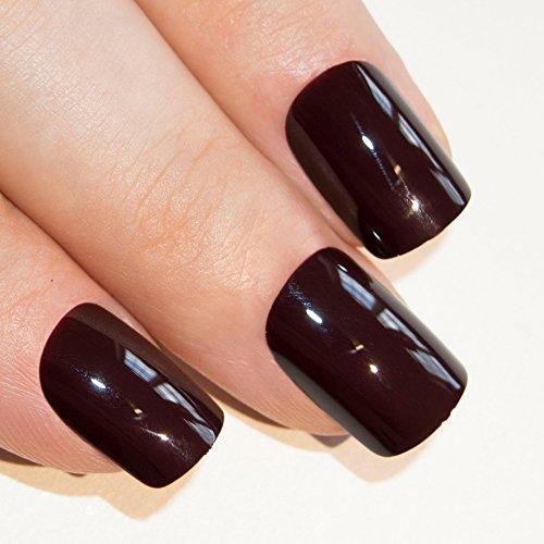 Art bling faux ongles manucure française Burgundy Rouge 24 Conseils moyen UK