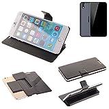 K-S-Trade Schutz Hülle für Ulefone Paris Arc HD Schutzhülle Flip Cover Handy Wallet Case Slim Handyhülle bookstyle schwarz