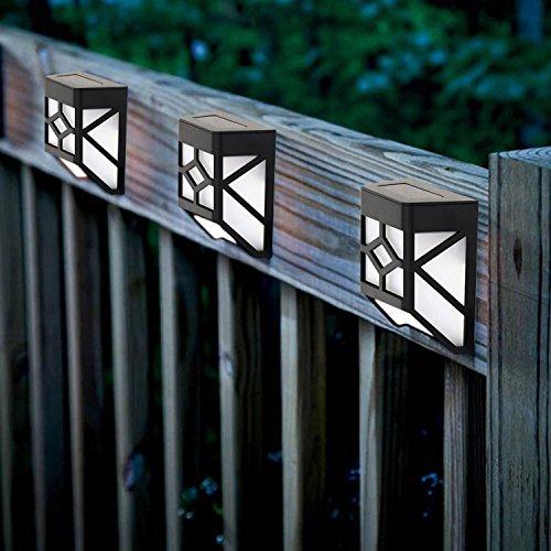 Solalite Dekorative, für den Garten, solarbetrieben, kabellos, wetterfest, für Außenbereich geeignet, Zaun-Lampen