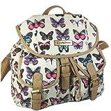 Roche Butterfly Animal Print Rucksack / Backpack / School Bag -- SWANKYSWANS