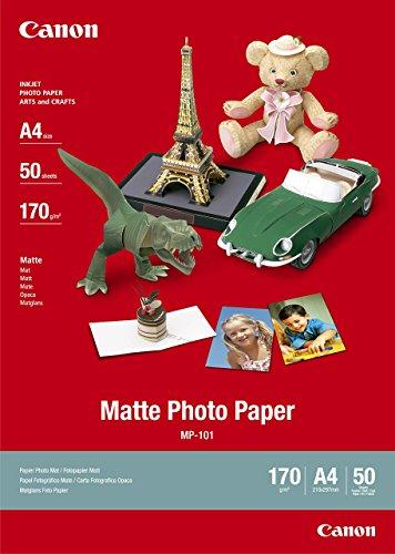 fotopapier matt a4 Canon MP-101, A4 Fotopapier matt (170 g/qm), A4, 50 Blatt