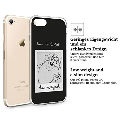 "FINOO iPhone 6 Plus und 6S Plus Silikon Case TPU Handy-Hülle ""How do i feel Series"" Motiv 