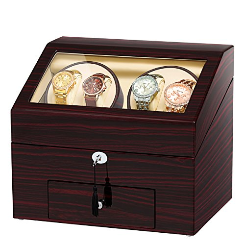 Jqueen Automatic Wood Watch Winder 4 Watches Review Best Watch