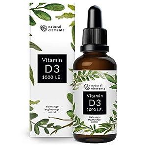 Vitamin D3 – Laborgeprüfte 1000 I.E. pro Tropfen – Mehrfacher Sieger 2018/2019* – 50ml (1750 Tropfen) – In MCT-Öl aus Kokos – Hochdosiert, flüssig und hergestellt in Deutschland