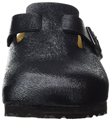 Birkenstock Boston Birko-flor, Sabots femme Grau (Animal Fascination Slate)