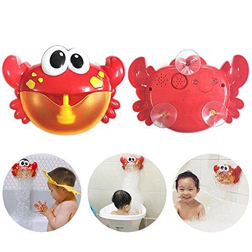 (MOGOI Crab Bubble Maker, Automatisiertes Auslauf Krabben Bad Bubble Spielzeuggeschenk mit 12 Kinderlied für Jungen, Mädchen)