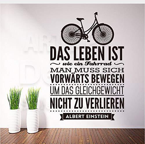 Kyzaa Home Decoration Vinyl Deutsch Wörter Zitat Regeln Wandaufkleber Abnehmbare Zeichen Abziehbilder Familienhaus Dekor