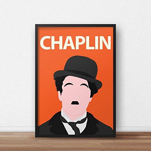 Charlie Chaplin Poster / / Filmkunst - Chaplin Portrait - Retro - bunt - Kino - Schauspieler - Minimalist - Dorm Decor