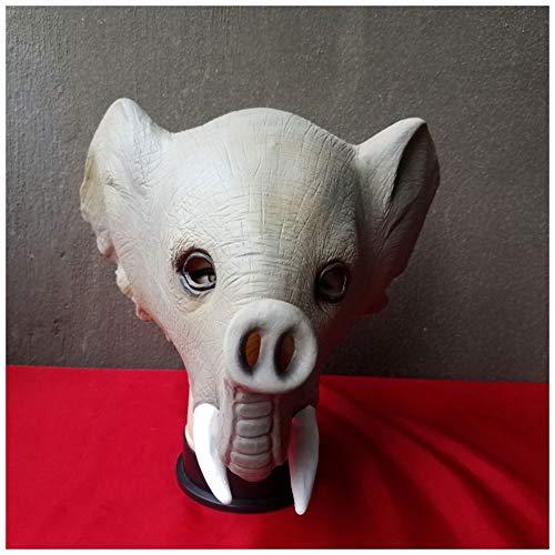 YaPin Novedad Zoo Máscara de Elefante Divertido espectáculo de Animales de Halloween Máscara de látex Elefante Sombrero