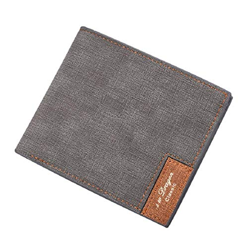 Vaycally Männer Retro Business Brieftasche Kupplung Slim Fit Wilde Brieftasche Dünne Geld-Dollar-Kartenhalter Kurze Brieftasche Casual Clutch - Liebe Kupplung Brieftasche