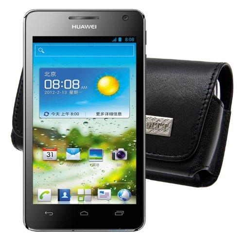 MTT Original Quer-Tasche mit Gürtelschlaufe für Huawei Ascend G615/G600 schwarz