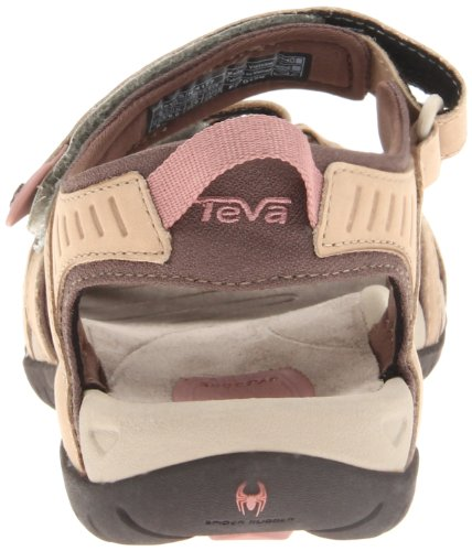 Teva Tirra Leather W's Damen Sport- & Outdoor Sandalen Beige (411 khaki)
