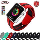FunBand Cinturino Apple Watch, Sport Colorato Morbido Silicone Sostituzione Traspirabilità Strap per Apple Watch Serie 4,Serie 3,Serie 2,Serie 1